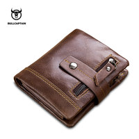 Bullcaptain Leather Men Wallet Fashion Coin Pocket Multifunction Men Purse High Quality Male Card Id Holder With Gift Box