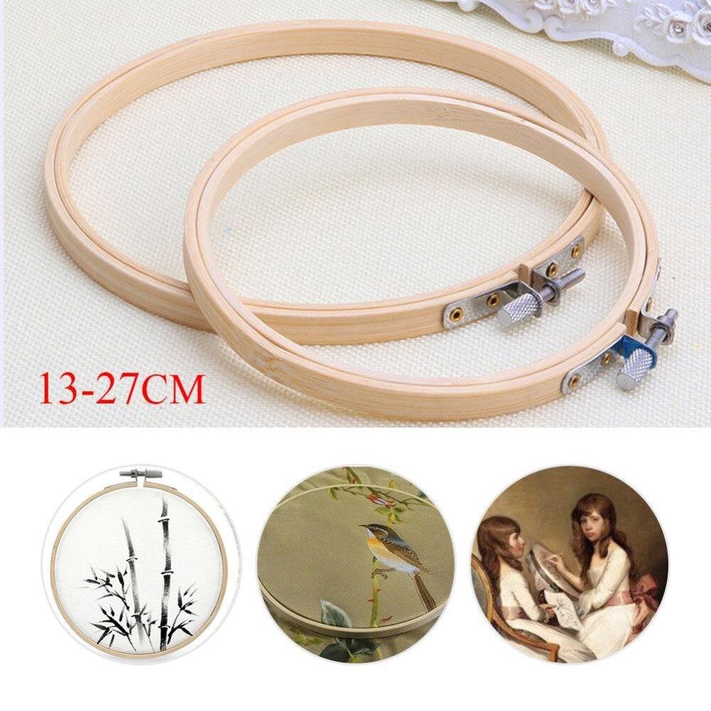 5 größe/set stickrahmen rahmen set 13/17/21/24/27 cm bambus holz ...