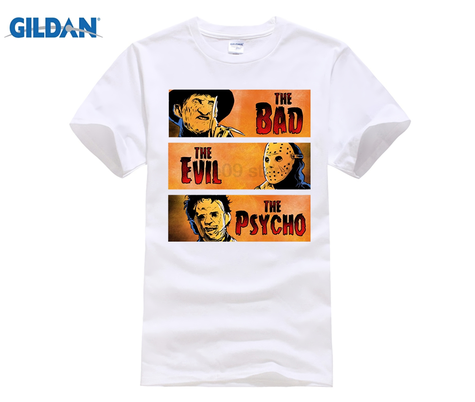 Freddy Kruger Jason Voorhees Pulp Fiction Parody Movie T Shirt Fashion Men and man T-Shirt Free Shipping Punk Tops Tee image