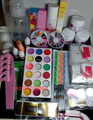 Pro Full Acrylic Glitter Powder Glue French Nail Art 500 Tip Brush Kit Set