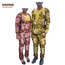 2017 musim luruh pasangan pakaian AFRIPRIDE pergelangan tangan pergelangan tangan adat peribadi + pergelangan kaki-panjang seluar pasangan seluar saman di dada A72C01