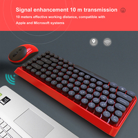 Gaming Keyboard Set 84 Keys Keyboard Mouse Combos PC for MacBook Classic Keyboard Set 2.4GHz Wireless