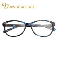 IVSTA Handmade Acetate High Quality Glasses Women Transparent Nose Pad Demi Spectacle Optical Frame Myopia Female