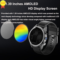 Android7 OS smart phone call watch 2019 HD 8MP Camera 3G+32G memory heart rate monitor GPS watch sports watch WIFI 4G Smartwatch