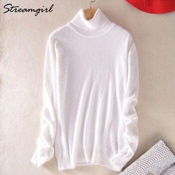 Cashmere Sweater Women Turtleneck Women s Plus Size Knitted Turtleneck Winter Cashmere Sweater For Women