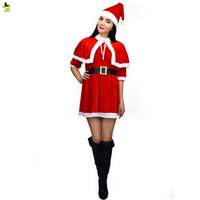 Hot sexy dress de halloween niñas disfraces de navidad navidad cosplay sexy dress plus size uniforme mujeres up rojo