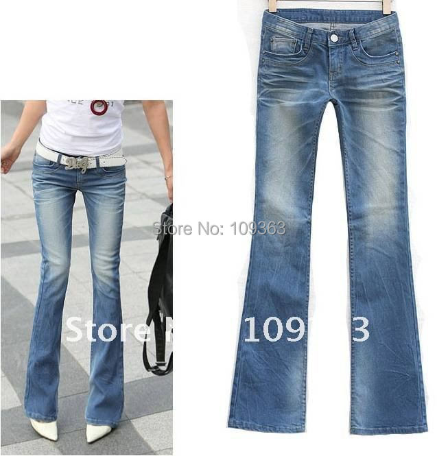 Fashion New Ladies' Boot Cut JeansPopular Casual Denim Pants Casual Jeans Women's Trousers.Free shipping QQ8073