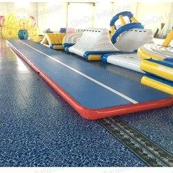 10*2*0.2 Meter Verzegelde DWF Nieuwe Opblaasbare Tumble Track, volwassen Gym Mat gebruikt air tracks voor verkoop