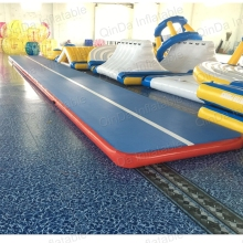 10 2 0 2 Meters Sealed DWF New Inflatable Tumble Track Adult Gym Mat used air