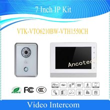 Free Shipping DAHUA Video Intercom 7 Inch HD CMOS camera IP Kit Support Mobile APP Without Logo VTK-VTO6210BW-VTH1550CH