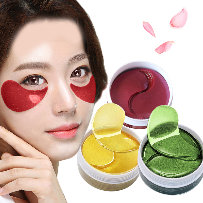 EFERO 60pcs/bottle Gold Eye Mask Collagen Gel Sleeping Eye Mask Whey Protein Patches for The Eyes Face Care Dark Circle Eye Pads