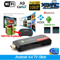 MK809IV RK3188T Quad Core Mini PC Android TV Box Wifi 2 GB 16 gb bluetooth google tv player hdmi stick de tv mk809iv + teclado