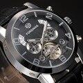 2016 Nuevos Relojes de Los Hombres Viste el reloj de Pulsera Mecánico Relojes de Primeras Marcas de Lujo FORSIINING Flying Tourbillon Automático Relojes
