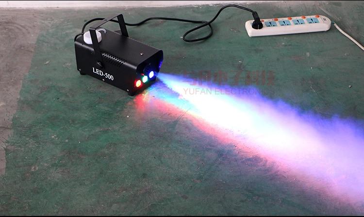Hot Sale Wireless Remote Control Led 500W Smoke Machine Stage Effects Light Beam Smoke Generator Stage Hood