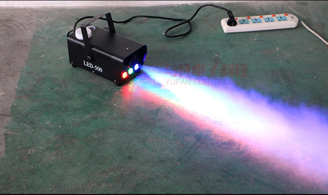 Hot sale wireless remote control led 500W smoke machine stage