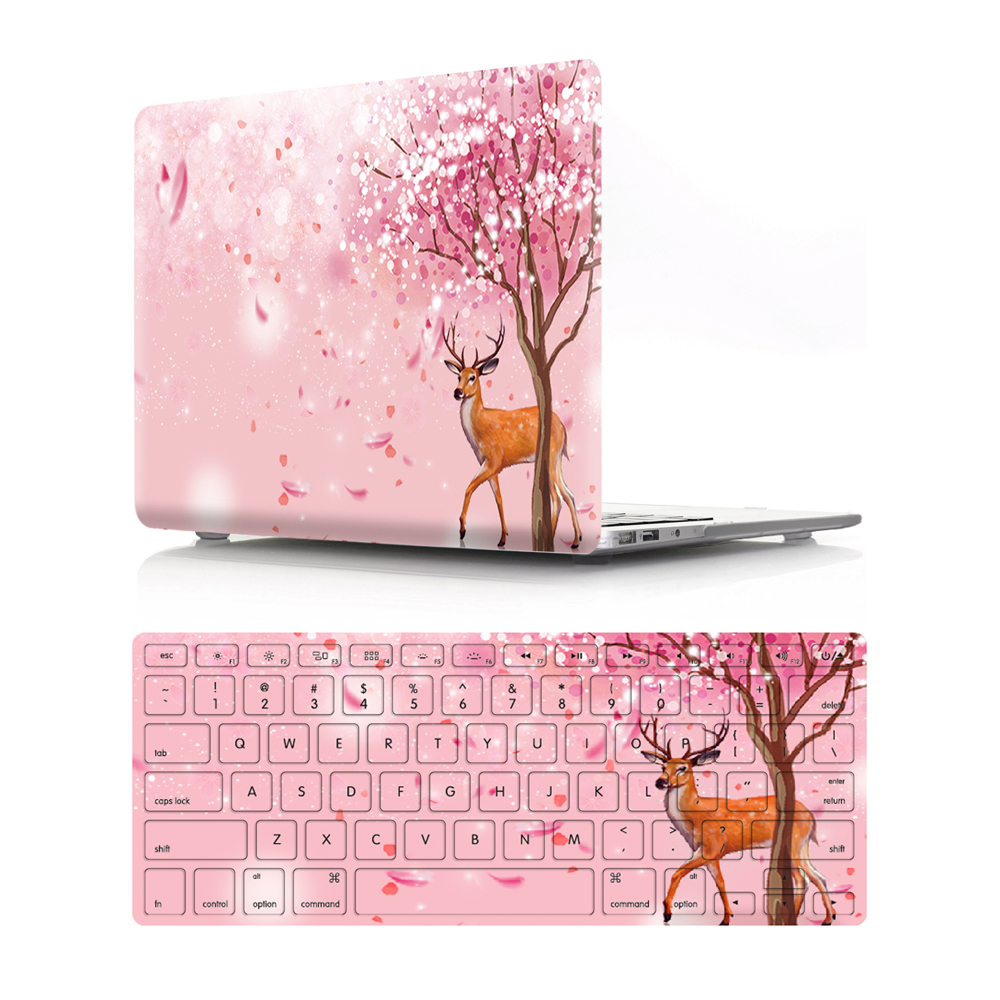 """Image 4 - Viviration Hot PVC Laptop Case W. Silicone Keyboard Cover Fashion Computer Accessories Set For Macbook Air 11 13 Pro 13.3 15.4""""-in Laptop Bags & Cases from Computer & Office"""
