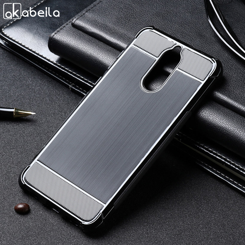 AKABEILA Case For Huawei Mate 10 Lite Case Silicone For Huawei Nova 2i Cover Anti Knock Brush TPU Soft Shell G10 Honor 9i Black in Fitted Cases from Cellphones Telecommunications