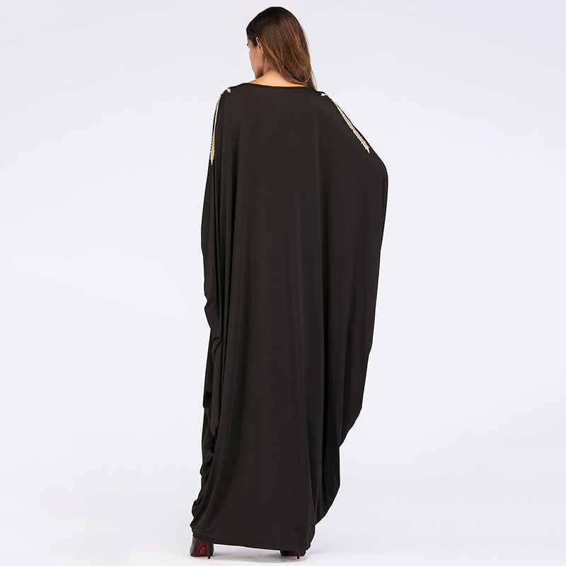 XITAO, платье размера плюс с аппликацией, плиссированное, с круглым вырезом, пуловер, дикий Джокер, корейская мода, рукав летучая мышь, 2019, Осенний сексуальный стиль, WLD2208