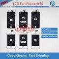 50 pcs display lcd para iphone 4 4g 4s cdma livre DHL Navio com tela sensível ao toque & Full Frame set montagem