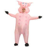 Inflatable pink pig Costume Carnival party Halloween Costumes for Adult women men Animal pig Cosplay Clothing Fancy Dress Suit