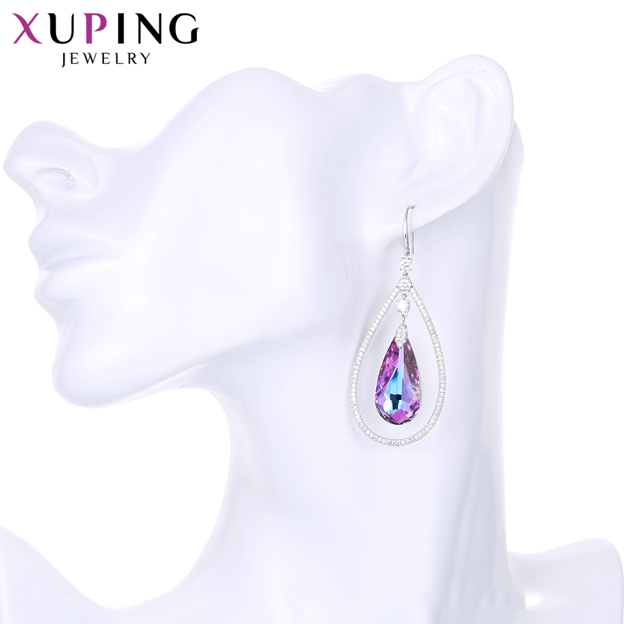 Xuping Water Drop Shaped Earrings Shining Crystals from Swarovski Romantic Jewelry for Women Valentine's Day Gifts S142.6-E-234