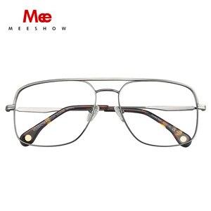 Image 2 - טיטניום סגסוגת משקפיים מסגרת גברים של oversize משקפיים מרשם משקפיים שמש קוצר ראייה משקפיים גדול גודל נשים אירופה eyewear