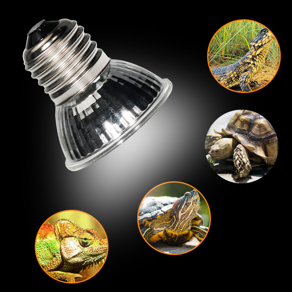 UVA+UVB Reptile Lamp Bulb Turtle Basking UV Light Bulbs Heating Lamp Amphibians Lizards Temperature Controller 1B
