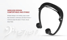 Cores preto branco V9 2 condução óssea fone de ouvido Bluetooth estéreo sem fio fone de ouvido para música em execução usando skinny