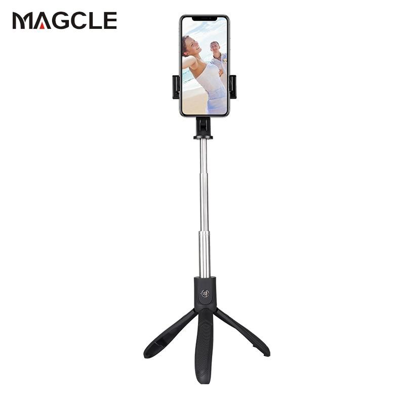 50 Teile/los Stativ Bluetooth Selfie Stick Magcle Drahtlose Fernauslöser Handheld Monopod Für Iphone Xr Xs Xs Max Samsung