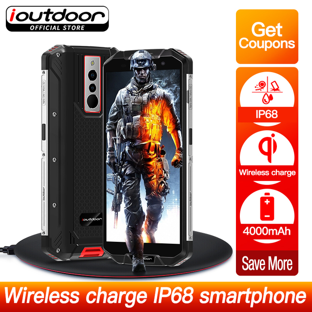 ioutdoor Polar3 2019 New Waterproof IP68 Smartphone Wireless Charging 5.5 Inch Quad Core 3GB + 32GB NFC Android 8.1 Mobile Phone