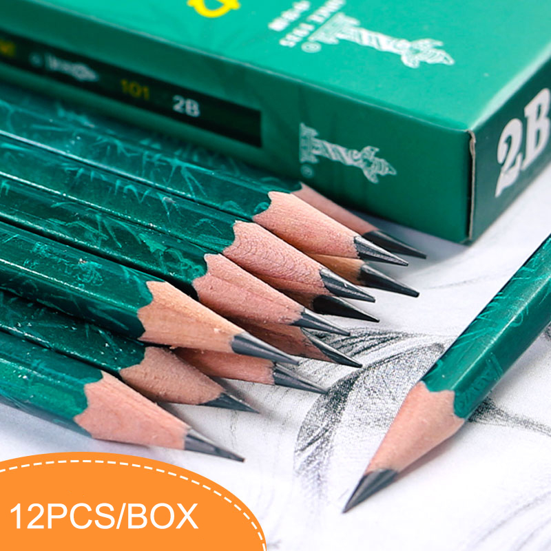 12pcs/box Wooden Lead Pencil 6H/5H/4H/3H/2H/H/HB/B/2B/3B/4B/5B/6B Painting Sketching Pencils Set School Office Supplies карандаши чернографитные tradition 110 6 штук 2h hb b 2b 4b 6b точилка ластик 61110c6