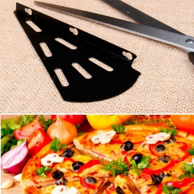 New Stainless Steel Pizza Scissors Multifunctional Slice 2-in1 Cutter Server Kitchen Pizza Cutting Tool