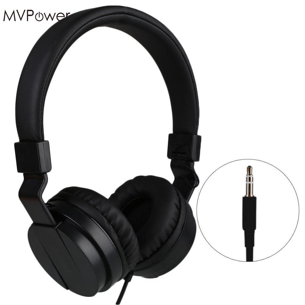 MVpower 3.5mm Wired Stereo Over Ear Headband Hifi Headphone Audio Casque Mp3 player Laptop Music Headset Foldable Big Earphone 3 5mm wired headphone foldable headset music stereo bass casque audio with microphone for computer pc gamer mp3 player headfone
