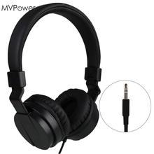 MVpower 3.5mm Wired Stereo Over Ear Headband Hifi Headphone Audio Casque Mp3 player Laptop Music Headset Foldable Big Earphone