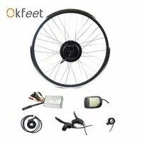 Okfeet 36V/48V 450W ebike conversion kit 20 24 26 27.5 28 700c rear rotate wheel hub motor with spoke and rim