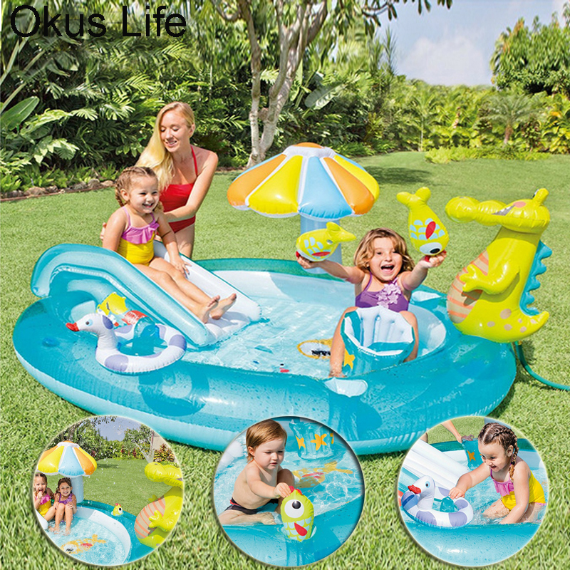 Fun Summer Inflatable Water Park Children Home Garden Lawn Water Slides Pools Crocodile Spray Water For Baby Swimming Play WaterFun Summer Inflatable Water Park Children Home Garden Lawn Water Slides Pools Crocodile Spray Water For Baby Swimming Play Water
