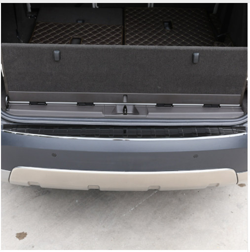For Land Rover Discovery 5 2017 Stainless Rear Bumper Protector Sill Trunk Trim