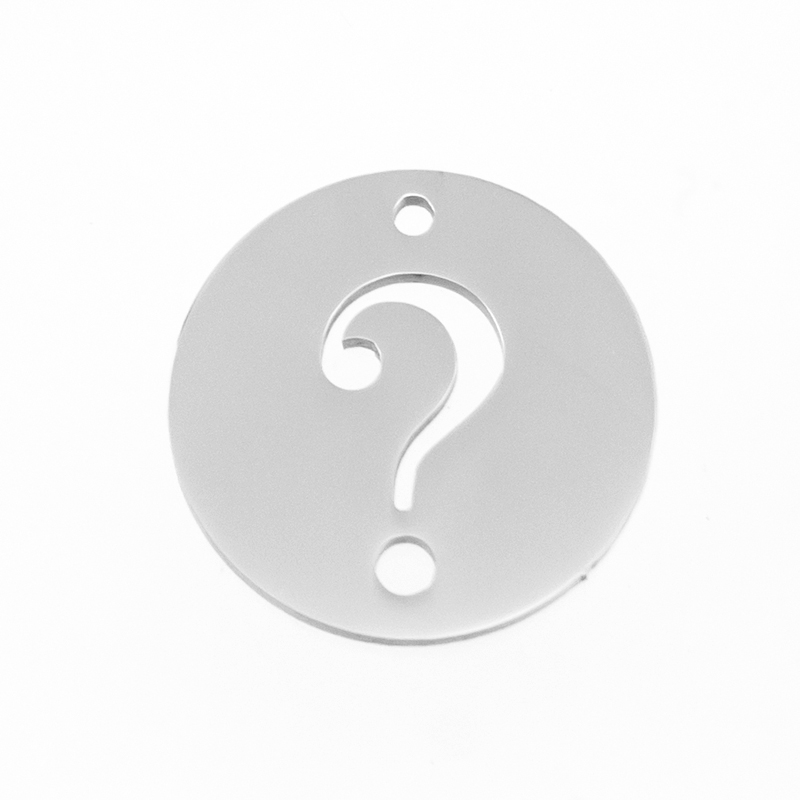 Simsimi round pendant charms of punctuation ,semicolon,question mark ,exclamation mark Stainless steel mirror polished 50pcs