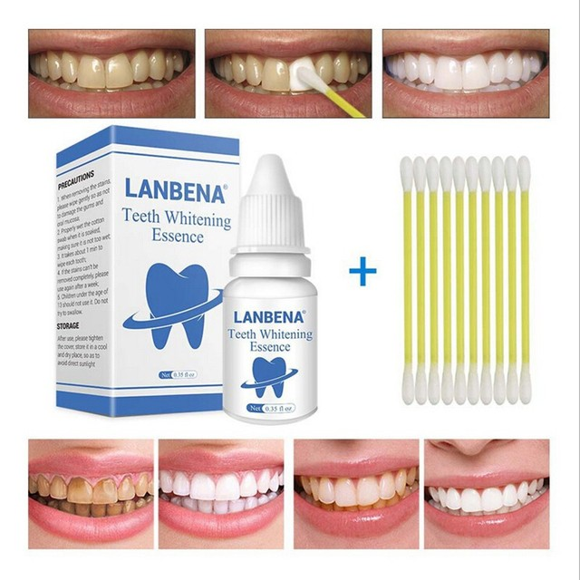 LANBENA Teeth Whitening Essence Removes Plaque Stains Powder Oral Hygiene Cleaning Serum Tooth Bleaching Dental Tools Toothpaste