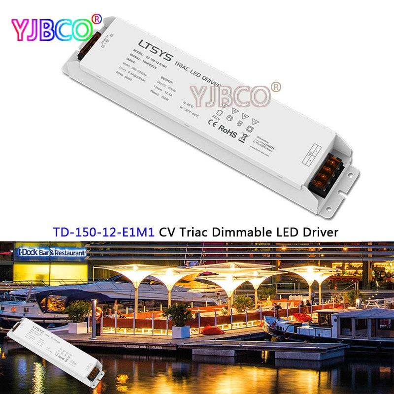 New intelligent led Driver TD-150-12-E1M1;150W 12VDC 12.5A constant voltage Triac Dimmable LED Driver Triac Push Dim kvp 24200 td 24v 200w triac dimmable constant voltage led driver ac90 130v ac170 265v input