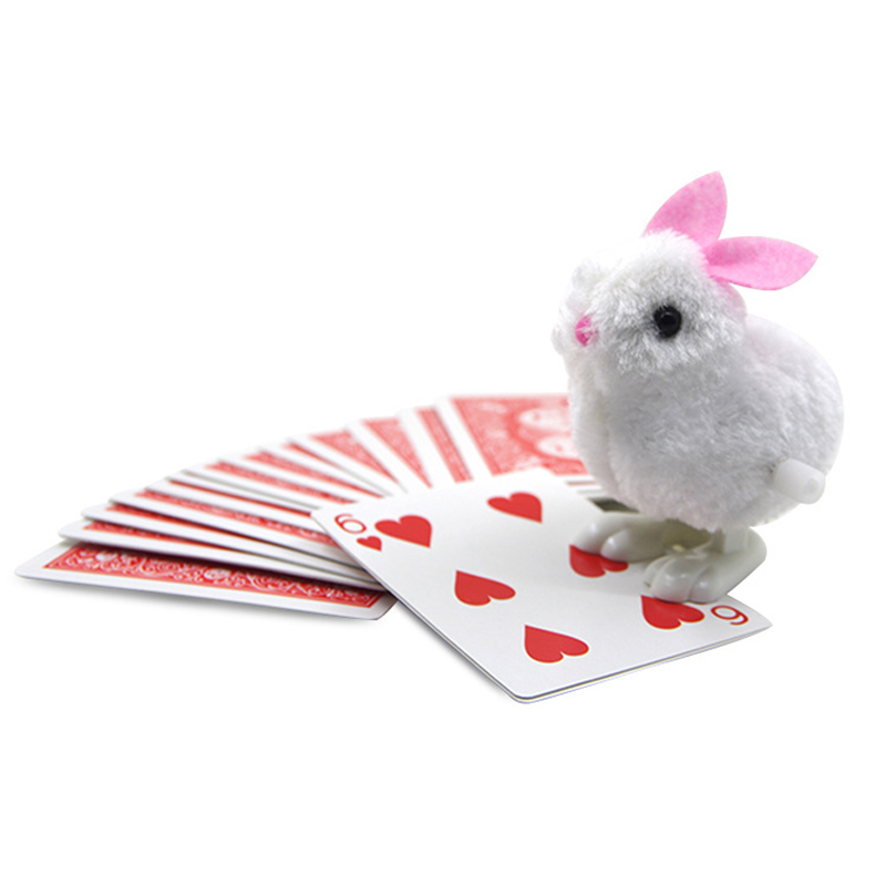 1set New Arrival Rabbit Looking For Cards Prediction Close Up Street Magic Tricks Easy To Do Magicians Children Magic