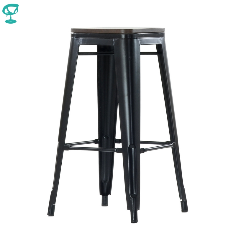 95260 Barneo N-237 High Metal Wood Kitchen Breakfast Interior Stool Bar Chair Kitchen Furniture Black Free Shipping In Russia