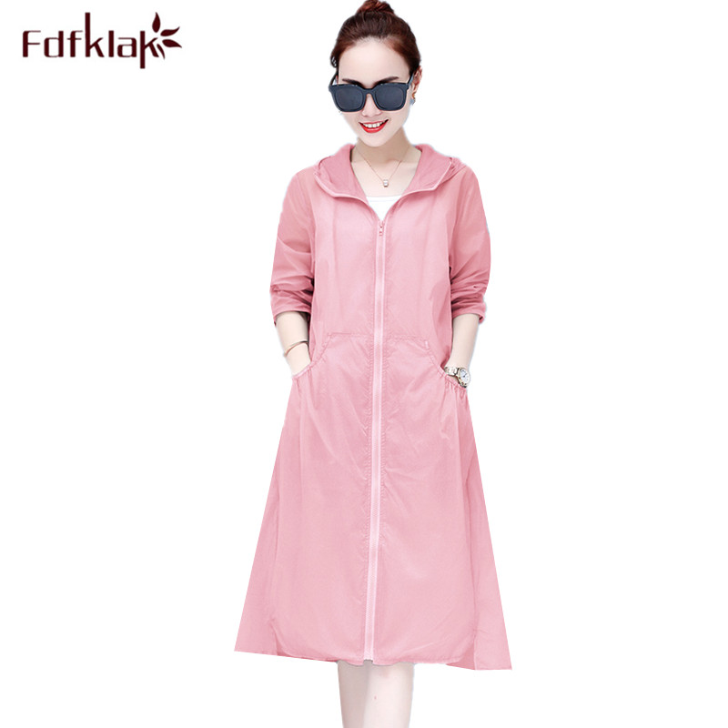 6d9a72c337d Fdfklak Spring summer thin maternity clothes hooded long sun protection  cardigan plus size pregnancy coat women jacket S-3XL