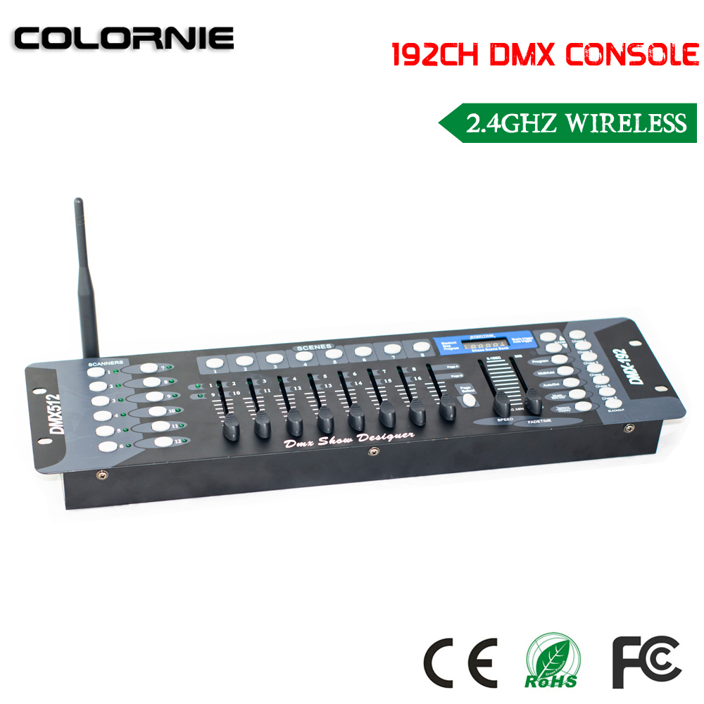 2017 NEW 192 Channel wireless DMX Controller Stage Lighting equipment  Console for LED Par Moving Head Spotlights DJ Controller купить