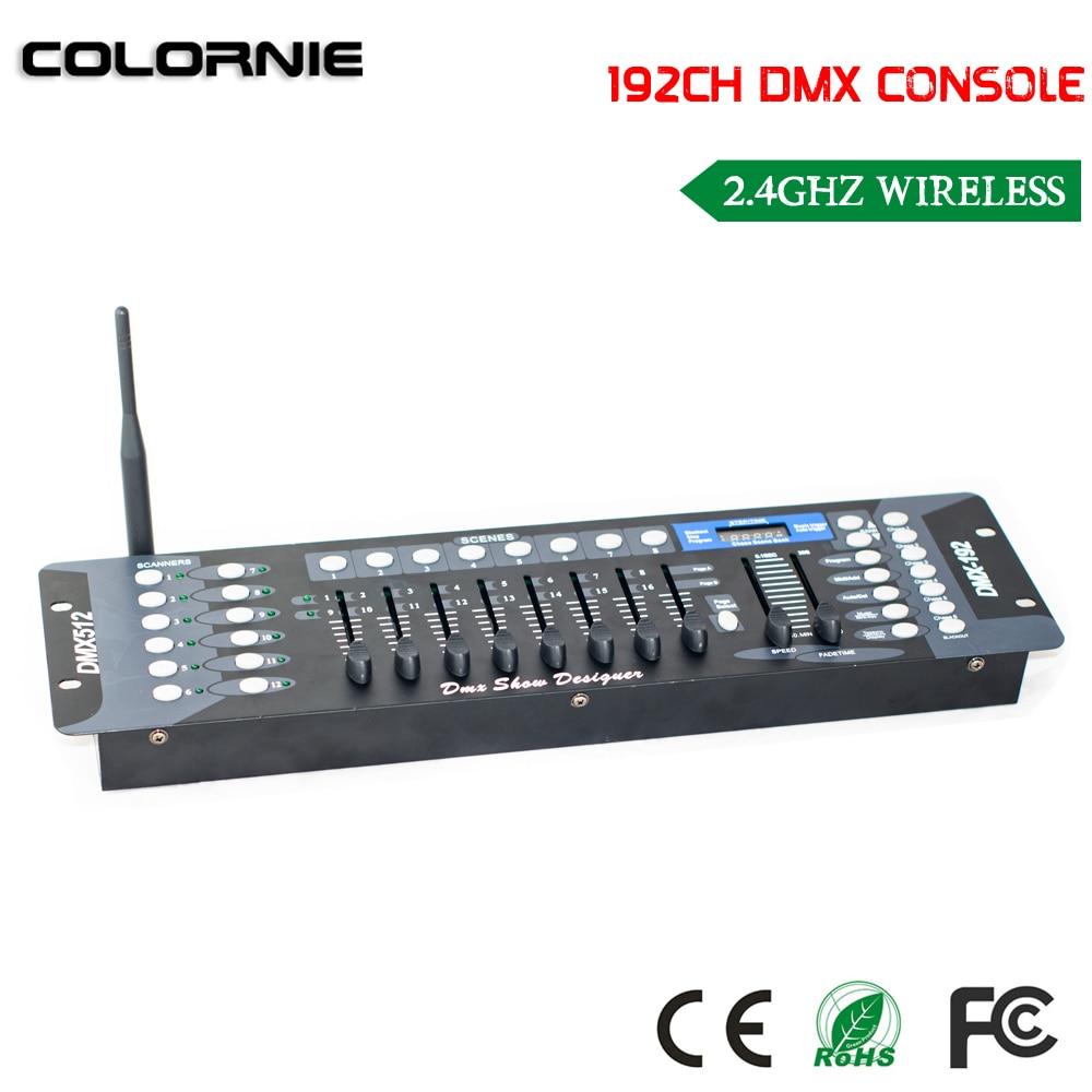 2019 NOWY 192-kanałowy bezprzewodowy kontroler DMX Sprzęt do oświetlenia scenicznego Konsola do reflektorów ruchomych LED Par Kontroler DJ