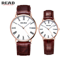 2017 New Brand READ Quartz Watch Lovers Watches Women Men Dress Watches Leather Dress Wristwatches Fashion Casual Watches Gold