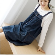 2016 New Arrival Denim Maternity Dresses maternity clothing breast feeding clothes for pregnant women BB08