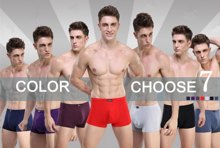 5pcs/lot  Color 7 Fashion men cuecas boxers High quality Sexy Men Boxer Shorts Men's Underpants  Short Pants Underwear L–XXXL