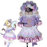 Love Live Sunshine Ohara Mari Animal Peacock Uniform Dress Outfit Anime Cosplay Costumes Full Sets