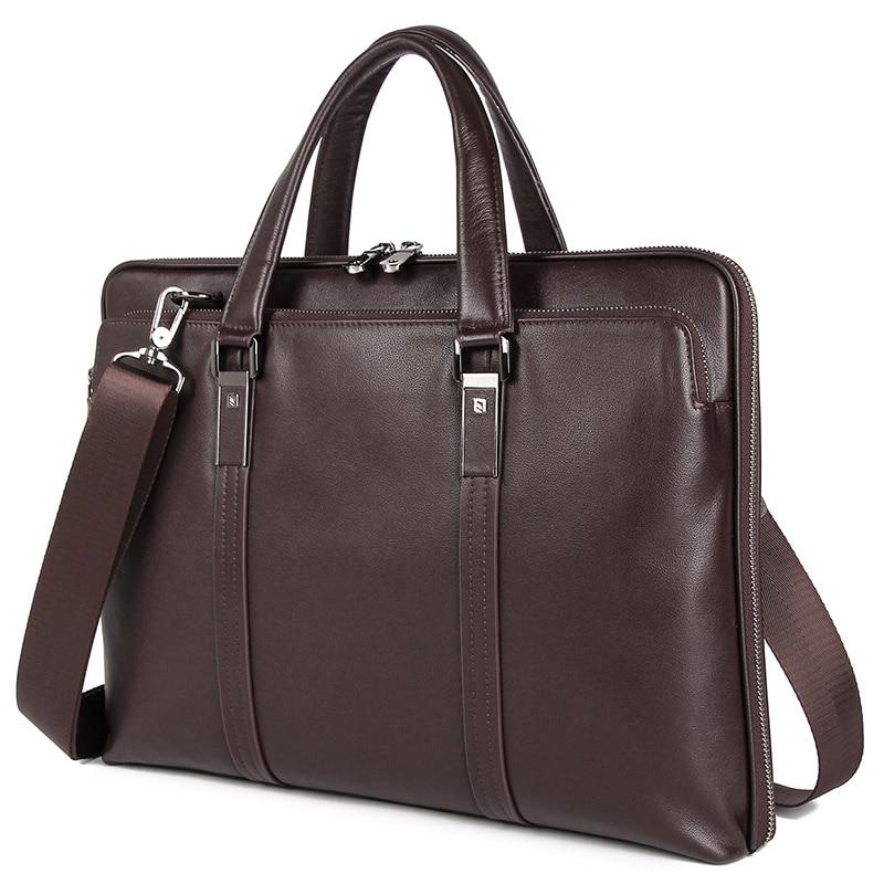 J.M.D 100% Genuine Leather Men's Handbag Messenger Bag For Business Men Briefcase 7326A/Q